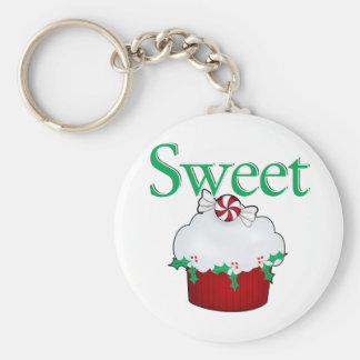 Sweet Cupcake Basic Round Button Keychain