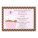 "Sweet Cupcake Birthday Invitation 5"" X 7"" Invitation Card"