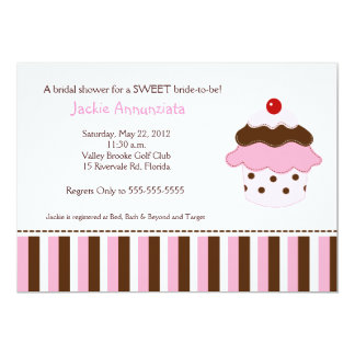 Sweet Cupcake Bridal Shower Invitation