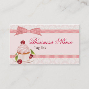 Cupcake calling business cards templates zazzle sweet cupcake business card template fbccfo Image collections