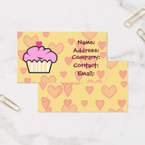 sweet cupcake business Cards