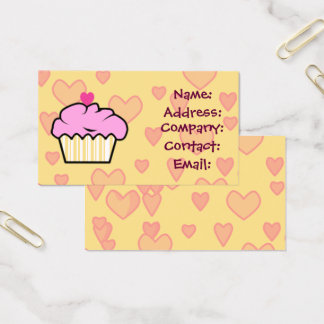sweet cupcake business Cards