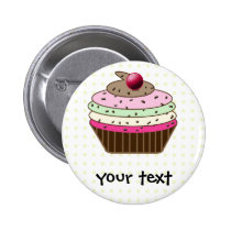 Sweet Cupcake Button