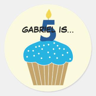 Sweet Cupcake Fifth Birthday Sticker