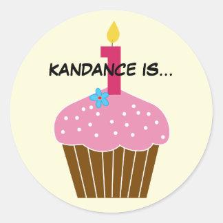 Sweet Cupcake First Birthday Sticker