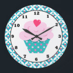 """Sweet Cupcake fun wall clock<br><div class=""""desc"""">design by Lilly Bimble at www.lillybimble.com back by www.scrappindoodles.com</div>"""