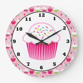 Sweet Cupcake Fun Wall clock