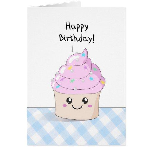 Sweet Cupcake - Happy Birthday card