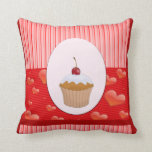 Sweet Cupcake, Hearts and Stripes Pillows