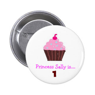 Sweet cupcake party button