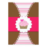 """Sweet Cupcake Party Invitation for Kids 5"""" X 7"""" Invitation Card"""
