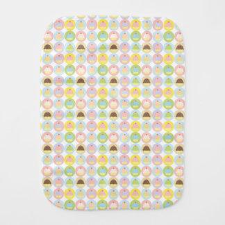 Sweet Cupcake Pattern Burp Cloth