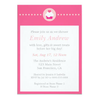 Sweet Cupcake, Pink Baby Shower for Mummy to be Card