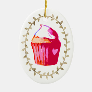 Sweet Cupcake Queen Window or Tree Christmas Ornaments