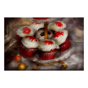 Sweet - Cupcake - Red velvet cupcakes Print