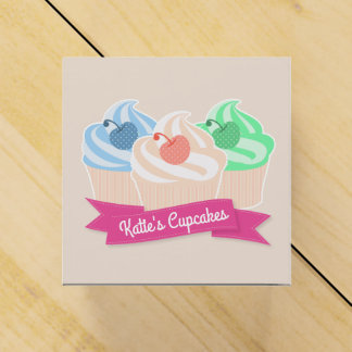 Sweet Cupcake Trio Favor Box