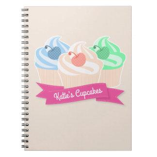Sweet Cupcake Trio Spiral Notebook