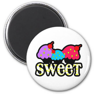 Sweet Cupcakes 2 Inch Round Magnet