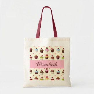 Sweet Cupcakes and Hearts Tote Bag