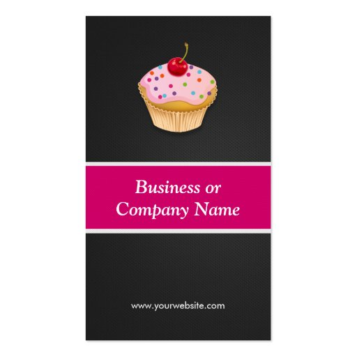 Sweet Cupcakes Bakery - Creative Innovative Business Cards (back side)