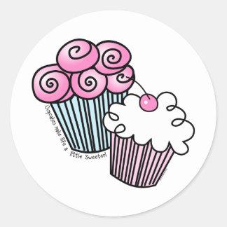 Sweet Cupcakes Classic Round Sticker