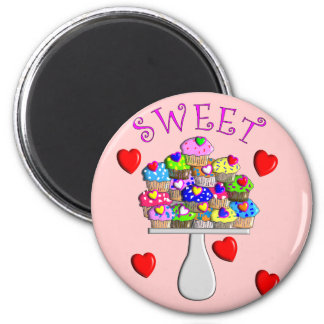 Sweet Cupcakes Gifts 2 Inch Round Magnet