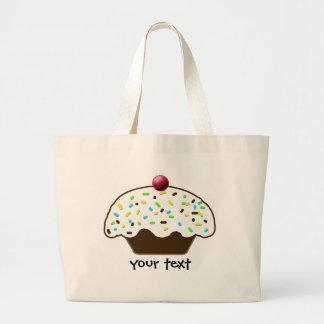 sweet cupcakes large tote bag