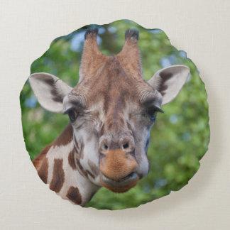 Sweet Curios Giraffe Round Pillow