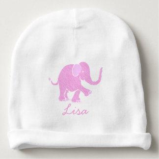 Sweet Customizable Pink Joyful Baby Elephant Baby Beanie
