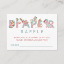 *~* Sweet Cute Animal Letters Baby Diaper Raffle Enclosure Card