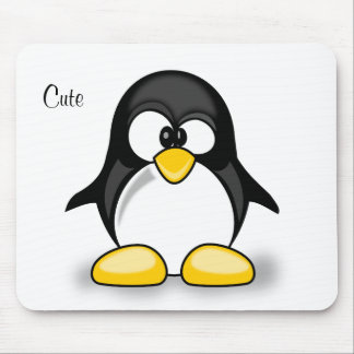 sweet cute cartoon penguin mouse pad