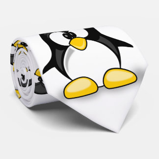 sweet cute cartoon penguin neck tie