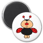 sweet cute ladybug 2 inch round magnet