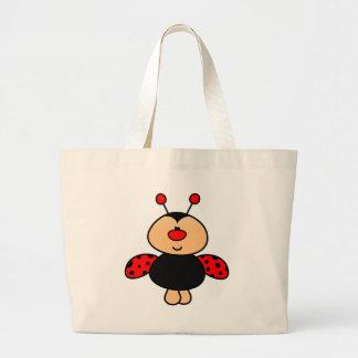 sweet cute ladybug jumbo tote bag