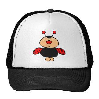 sweet cute ladybug trucker hat