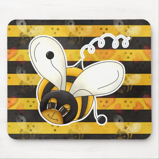 Sweet Cute Little Bumble Bee Mouse Pad