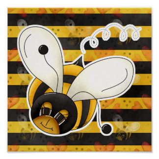 Sweet Cute Little Bumble Bee Poster