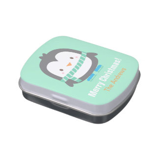 Sweet Cute Little Penguin Winter Party Favors Jelly Belly Candy Tins