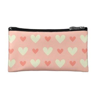 Sweet Cute Love Hearts Seamless Pattern Cosmetic Bags
