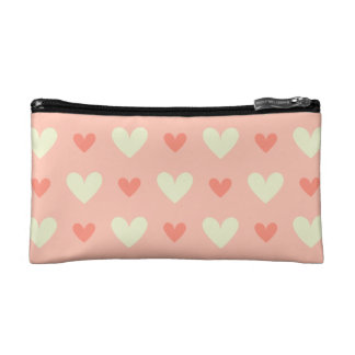 Sweet Cute Love Hearts Seamless Pattern Makeup Bag