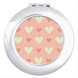 Sweet Cute Love Hearts Seamless Pattern Mirror For Makeup