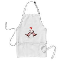 sweet cute lovebirds adult apron