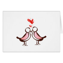 sweet cute lovebirds card