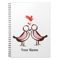 sweet cute lovebirds notebook
