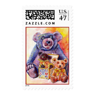 SWEET Cute TEDDY BEARs & Jack-In-The-Box Stamps