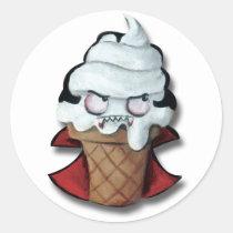 artsprojekt, trick or treat, vampire, cute vampire, halloween, cute halloween, ice cream gift, halloween gift, kawaii halloween, ice cream, sweet vampire, kids halloween, children halloween, halloween decoration, halloween idea, cartoon ice-cream, cartoon vampire, kawaii, illustration vampire, halloween present, halloween ice cream, ice cream present, vampire present, vampire gift, Sticker with custom graphic design