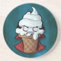 artsprojekt, trick or treat, vampire, cute vampire, halloween, cute halloween, ice cream gift, halloween gift, kawaii halloween, ice cream, sweet vampire, kids halloween, children halloween, halloween decoration, halloween idea, cartoon ice-cream, cartoon vampire, kawaii, illustration vampire, halloween present, halloween ice cream, ice cream present, vampire present, vampire gift, Descanso para copos com design gráfico personalizado