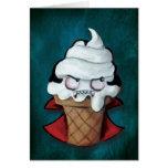 Sweet Cute Vampire Ice Cream Greeting Card