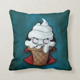 Sweet Cute Vampire Ice Cream Throw Pillows