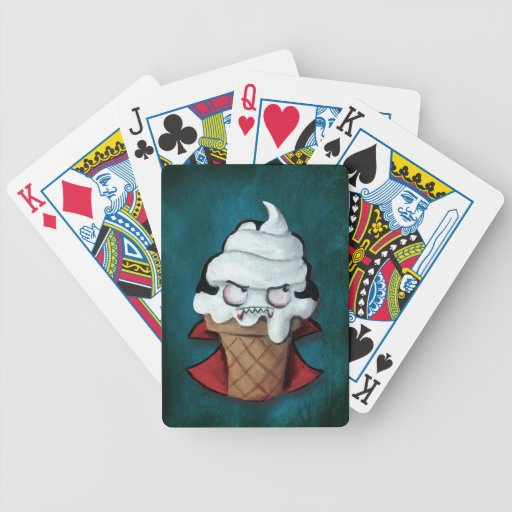 Sweet Cute Vampire Ice Cream Playing Cards